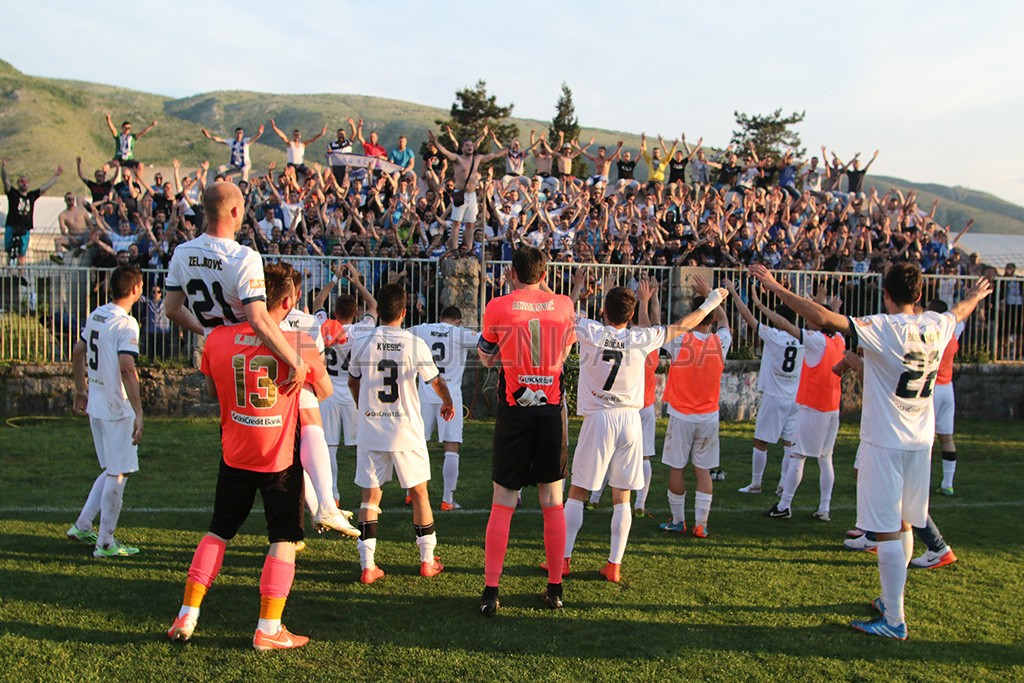 U maju, u Vrapčićima, naš Željezničar je deklasirao domaći Velež sa 3:0. Golove su postigli Bajić, Bogdanović i Beganović.  Foto: Damir Hajdarbašić, fkzeljeznicar.ba