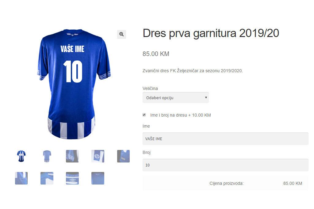 Dres FK Zeljeznicar s vasim imenom